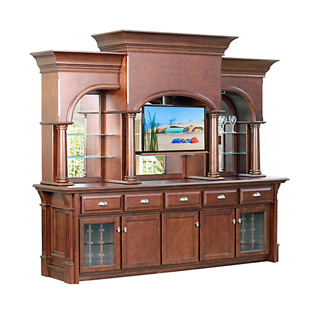 Custom Bars For Homes: Custom Furniture Home Bar Toronto With TV Accessory