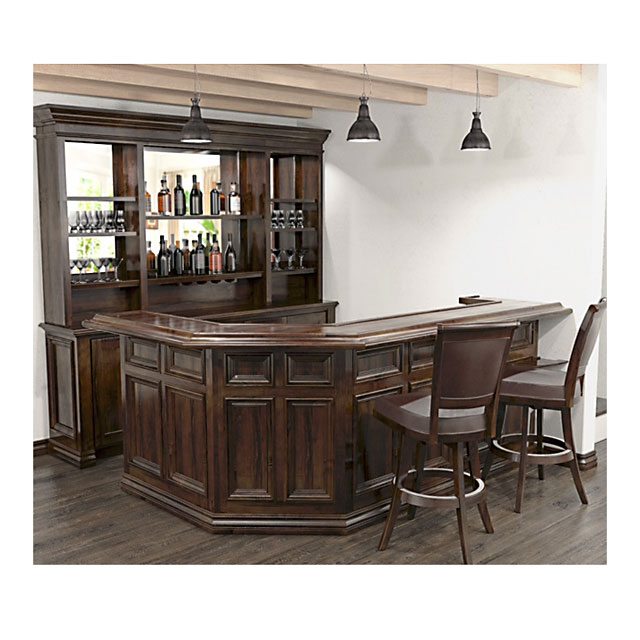 Custom Bars For Homes: Customized Home Bar With Optional Barstools