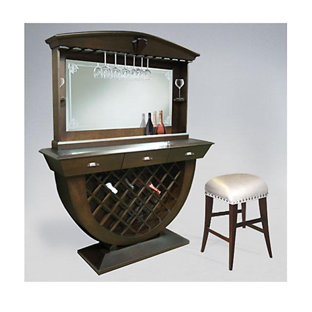 Home Bar With Backglass Custom Furniture Toronto