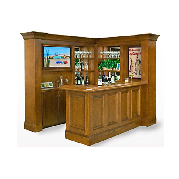 Custom Bars For Homes: Custom Home Bar With Hideaway TV