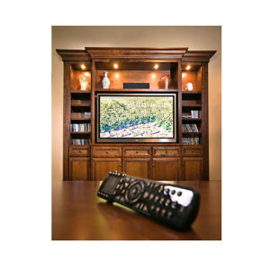 Custom Home Bar With Hideaway TV